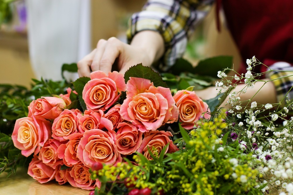 Inred med blommor